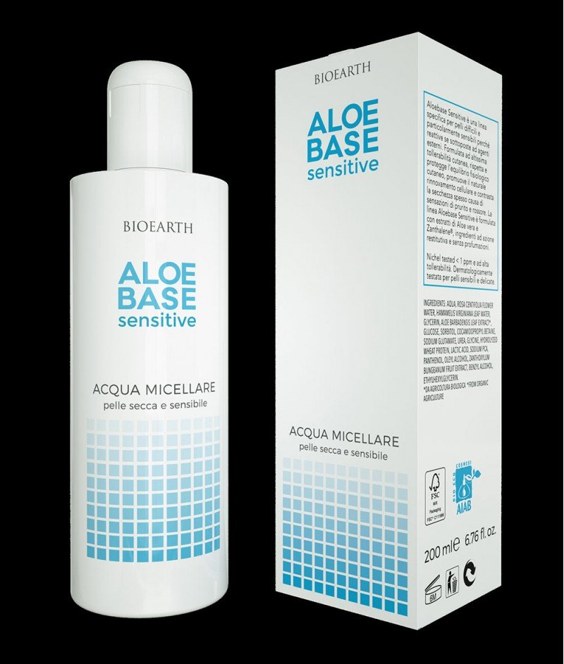 Мишеларна Вода с Алое Вера 200 ml - Aloebase Sensitive Bioearth
