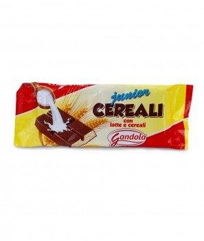 """Шоколадов Десерт с Млечен Пълнеж и Хрупкави Зърнени Култури """"Junior Cereali"""" 4x28 g - Gandola 1964"""