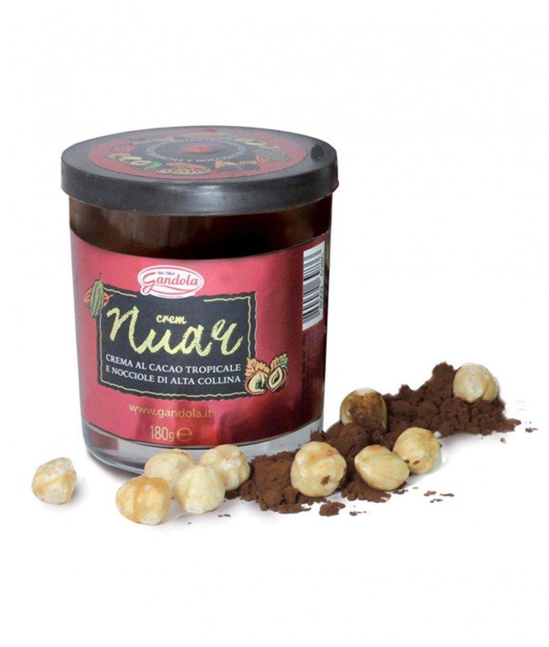 "Тъмен Течен Шоколад от Тропическо Какао и Лешници ""Nuar"" в Чаша 180 g - Gandola 1964"