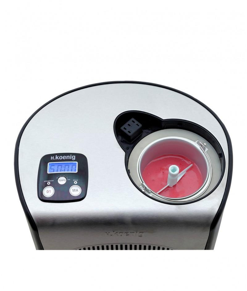 Машина за Сладолед с Компресор H.Koenig – HF250 - Капацитет 1500 ml