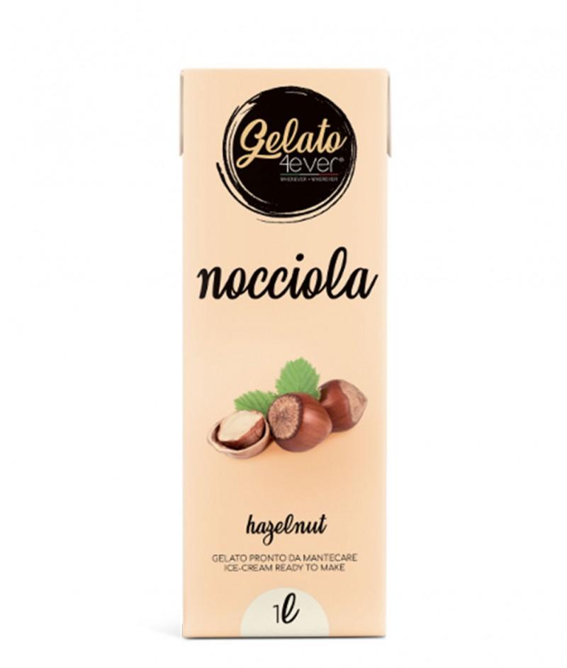 Италиански Сладолед (Gelato) с Вкус Лешник Gluten Free 1000 ml - Gelato 4ever
