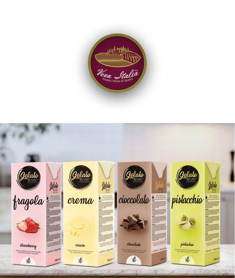 Италиански Сладолед (Gelato) с Вкус Крем Gluten Free 1000 ml - Gelato 4ever