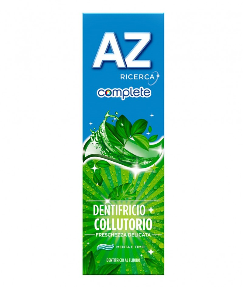 AZ Complete + Collutorio Freschezza Delicata - AZ Комплекс + Вода за Уста - Деликатна Паста за Зъби - 75ml