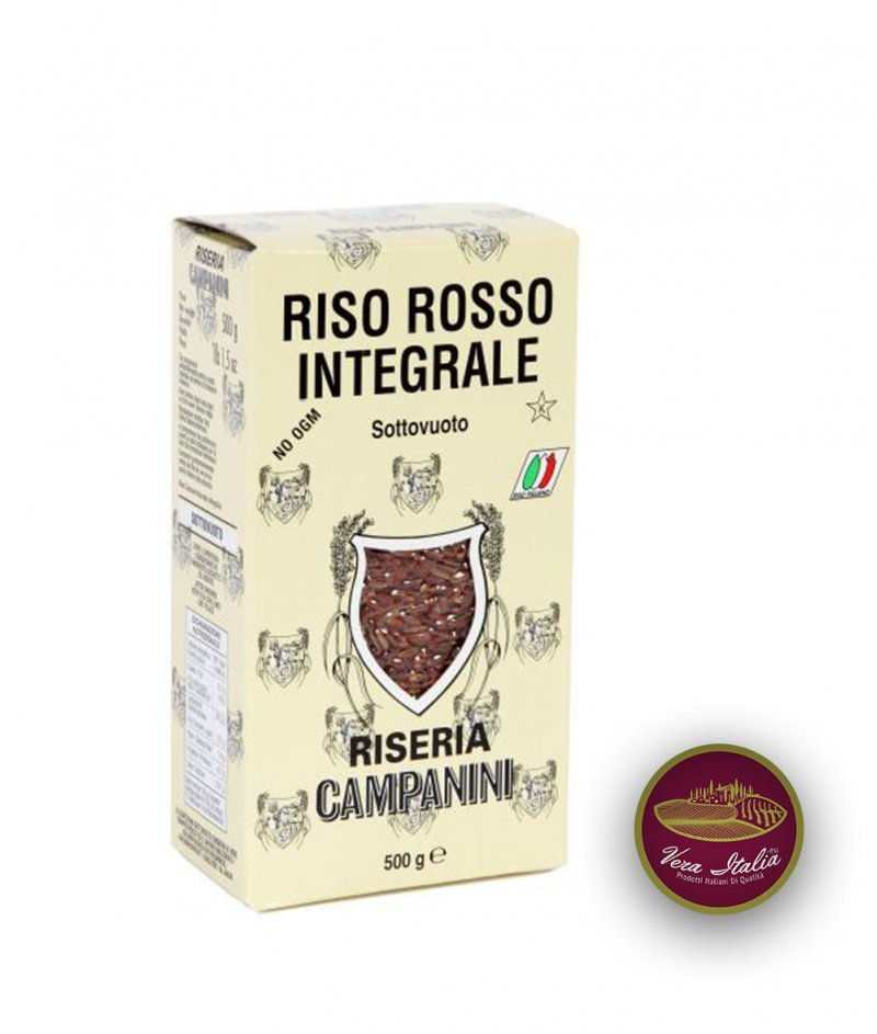 Червен Пълнозърнест Ориз 500 g - Riseria Campanini dal 1920