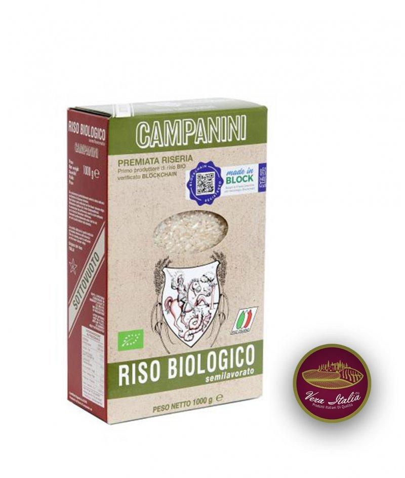 Пълнозърнест БИО Ориз за Бързо Готвене 1000 g - Riseria Campanini dal 1920