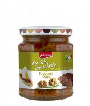Брускета-сос Домати и Маслини 190 g - Naturamica