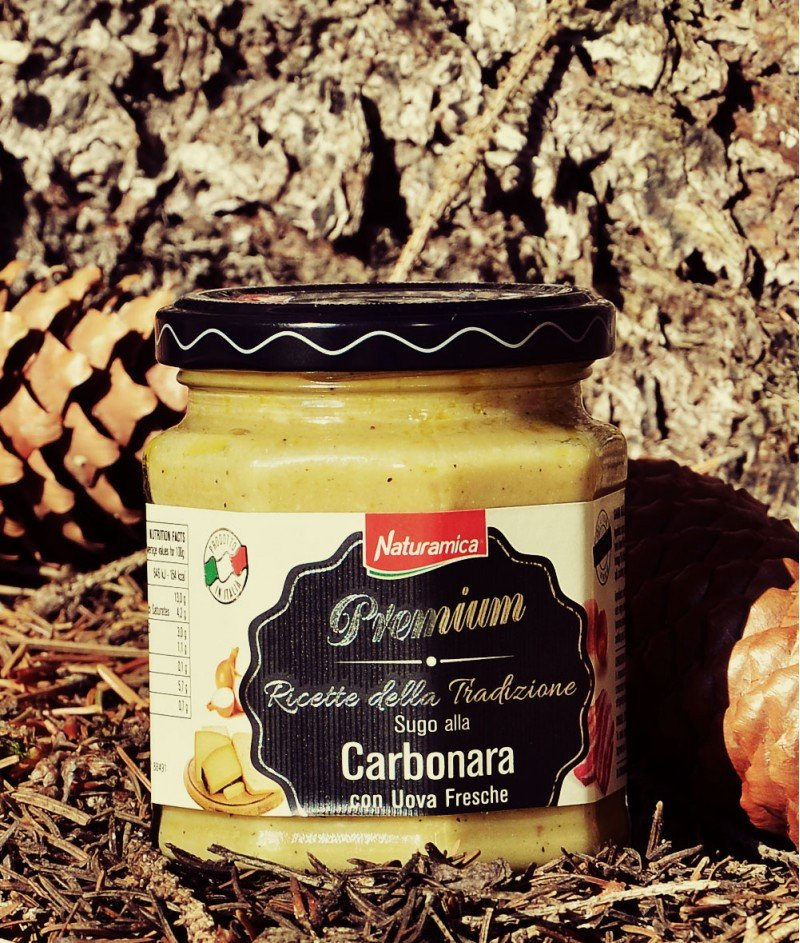 Карбонара - Крем Сос за Паста с Пресни Яйца 190 g - Naturamica Premium