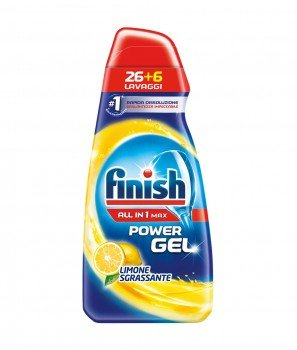 Гел за Миялни Машини Finish Power Gel All in 1 Limone Sgrassante - 650 ml - 32 дози