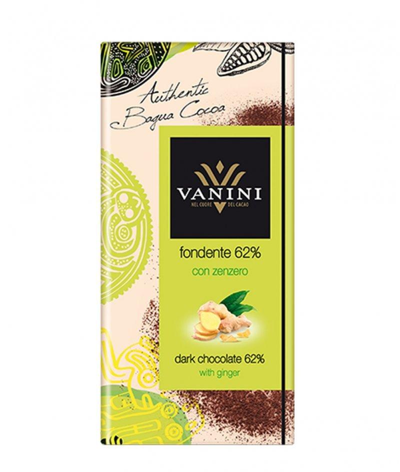 Тъмен Шоколад Vanini 62% Какао с Джинджифил Gluten Free 100 g – Icam
