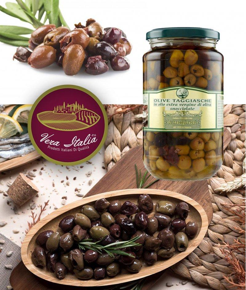 Маслини Таджаска в Екстра Върджин Зехтин 880 g / 1062 ml - Piccardo Savore 1920