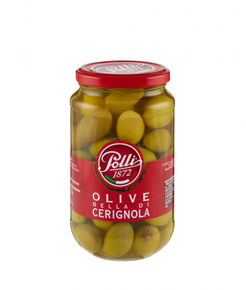 Зелени Маслини Bella di Cerignola 565/340 g - Polli 1872