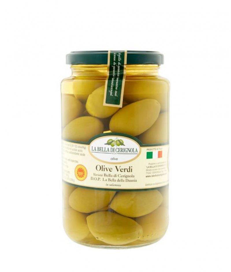 Зелени Маслини Bella di Cerignola DOP 590/310 g - Bella di Cerignola  S.C.A.