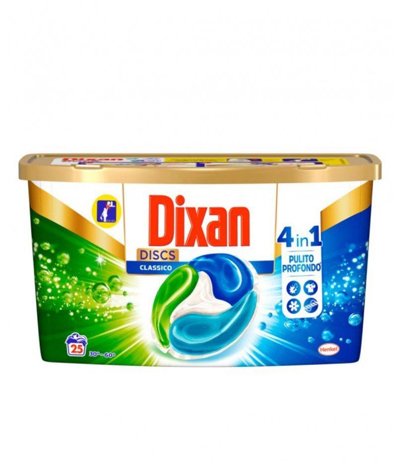 Капсули Перилен Препарат Dixan DISCS 4в1 Класик 625 g - 25 дози