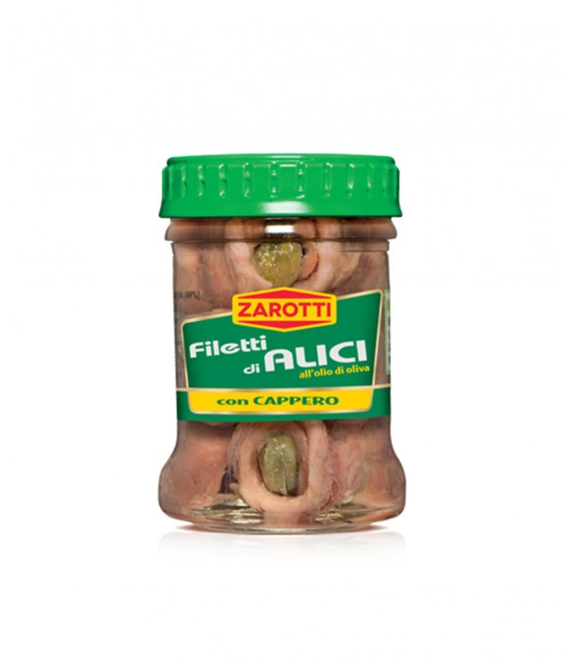 Филета от Аншоа с Каперси Gluten Free 65 g - Zarotti