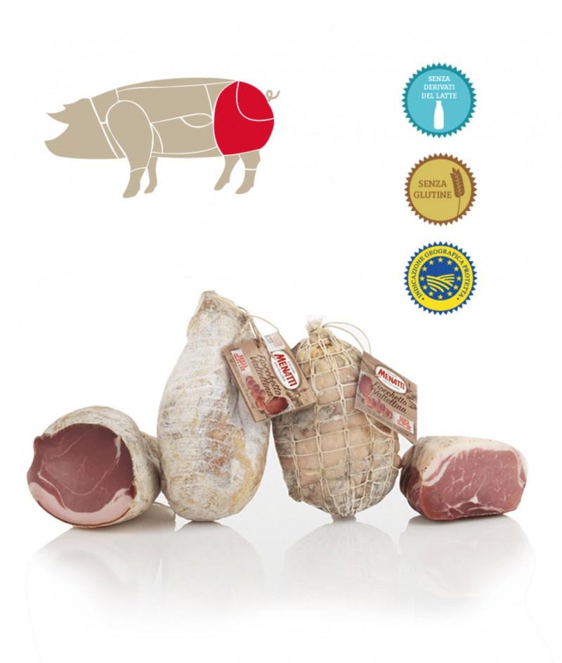 Прошуто Крудо Fiocchetto (Лък) Gluten Free 1000 g - Salumificio Menatti