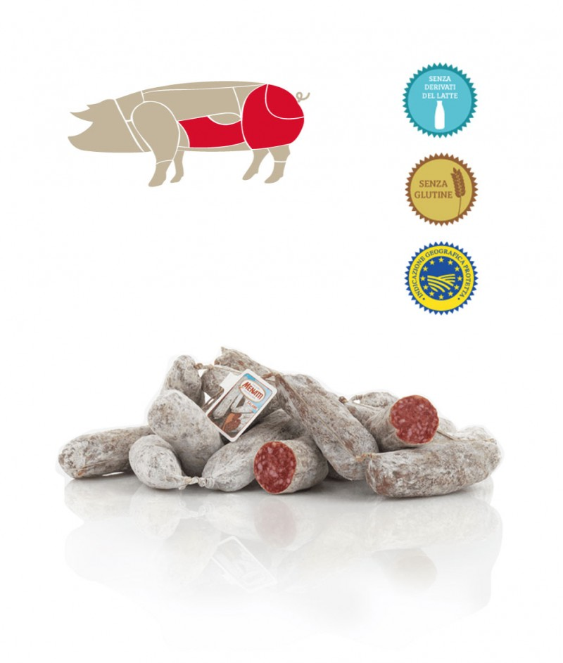 Саламче от Свинско Месо Gluten Free 100 g - Salumificio Menatti