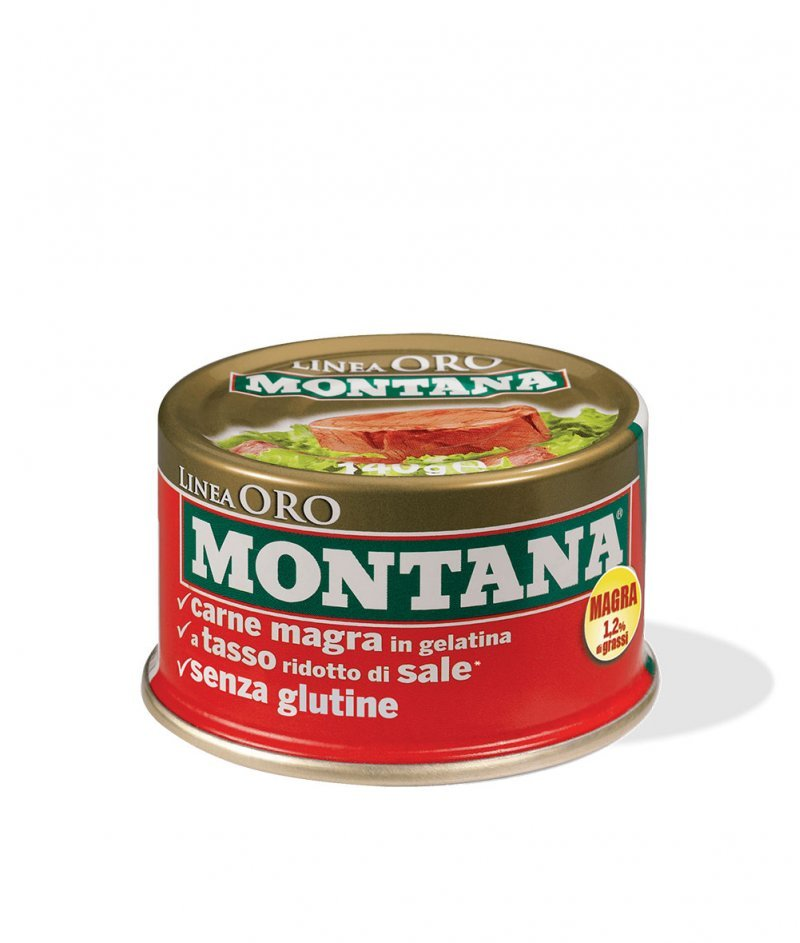 Нискомаслено Говеждо Месо в Консерва Montana Linea Oro 140 g - Inalca