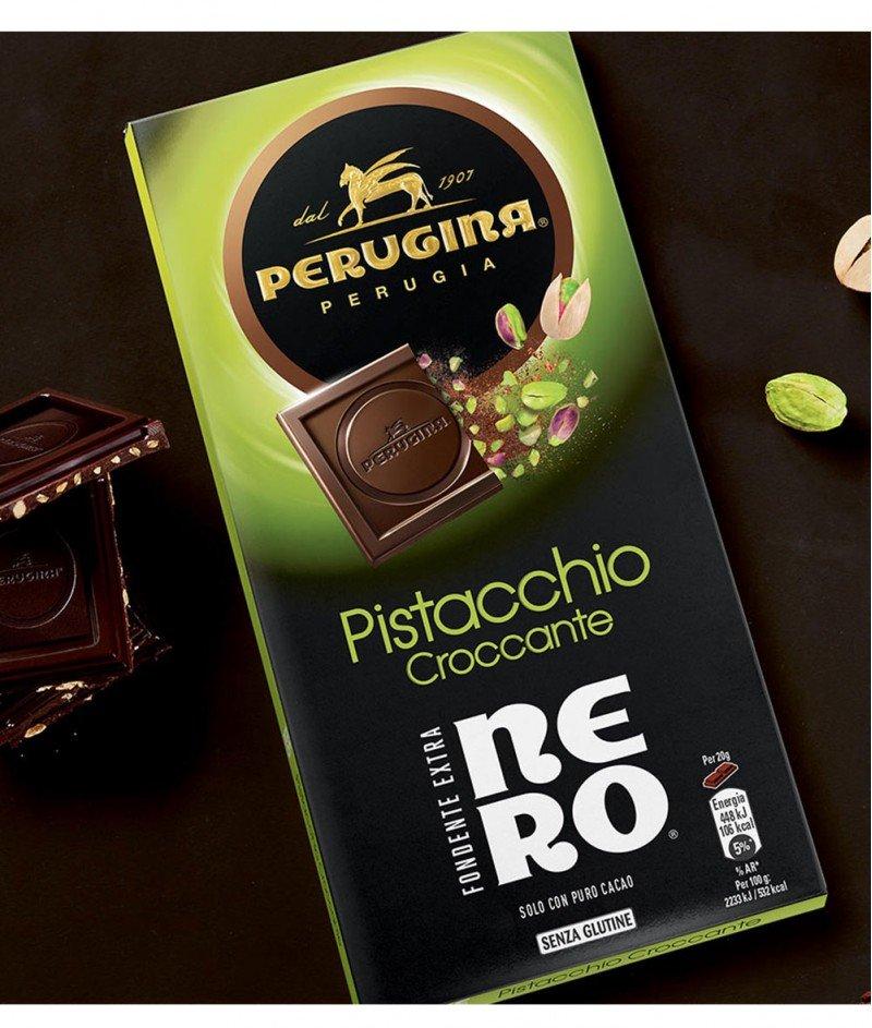Тъмен Шоколад Nero с Хрупкав Шамфъстък  Gluten Free 85 g – Nestlè Italiana