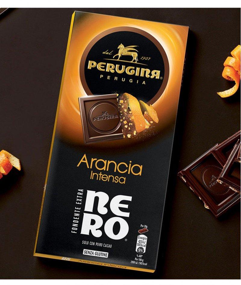 Тъмен Шоколад Nero с Интензивен Вкус на Портокал Gluten Free 85 g – Perugina – Nestlè Italiana
