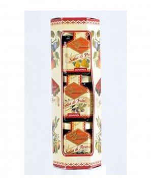 Трис Мини Изкушения със Синап от Смокини, Круши и Портокали - Леко Пикантни 144 g - A. Fieschi 1867