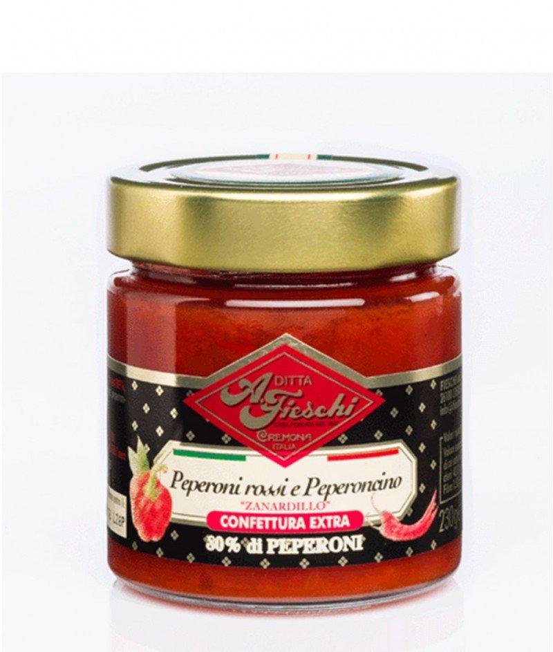 Конфитюр Екстра от Червени Чушки и Пеперончино 230 g - A. Fieschi 1867