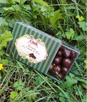 Кубчета Круша Покрити с Черен Шоколад  150 g – A. Fieschi 1867