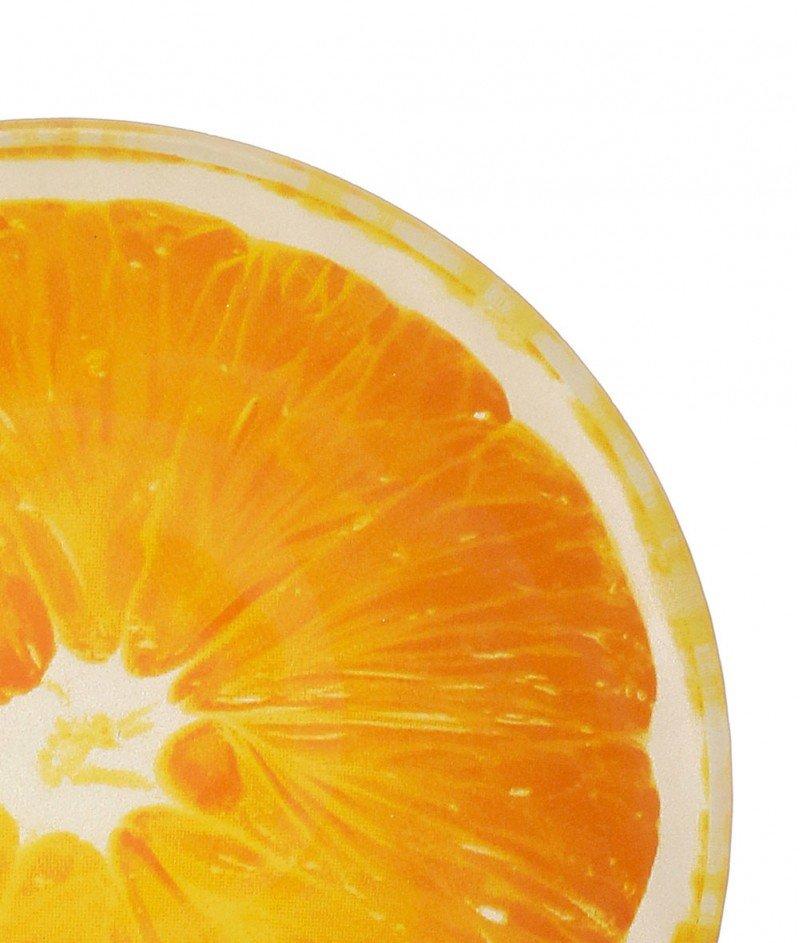 Стъклена Купа За Плодова Салата + 6 Купички ,, Портокал''  - Kasanova