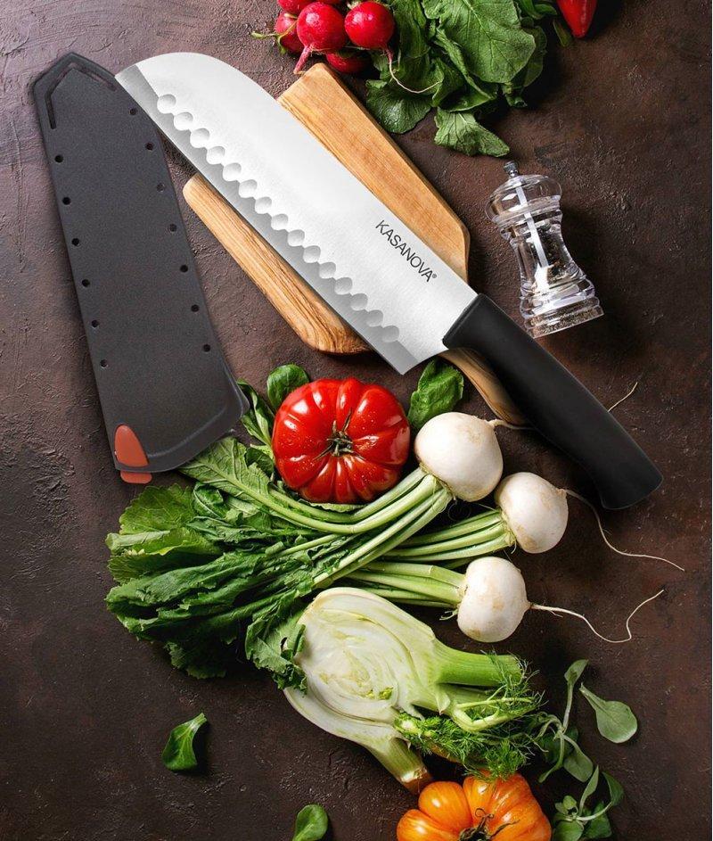 Нож Santoku Сантоку 32 cm (Острие 17 cm) - Kasanova