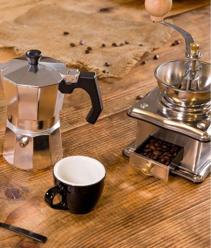 Ръчна Мелничка за Кафе от Неръждаема Стомана - Kasanova