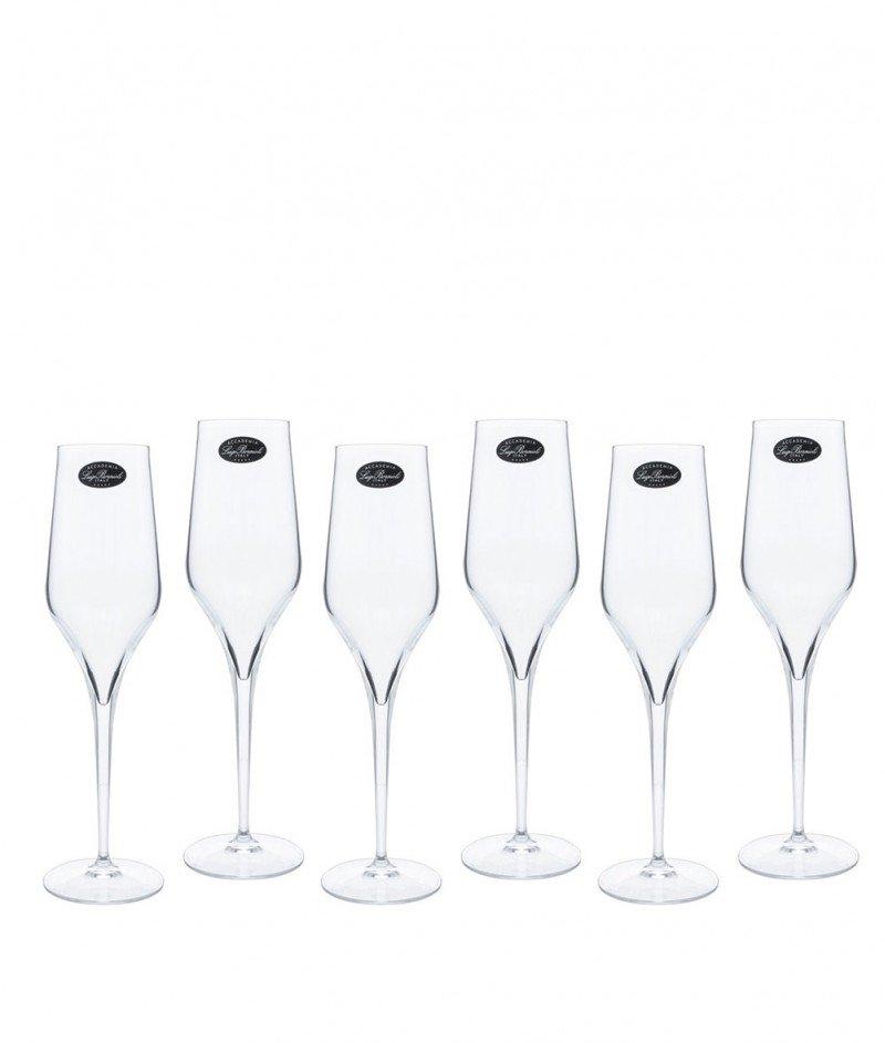 Кристални Чаши за Шампанско 6 бр. - Accademia Luigi Bormioli