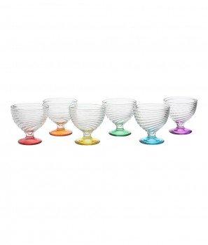 Сет Многоцветни Чаши за Сладолед 6 броя - Kasanova