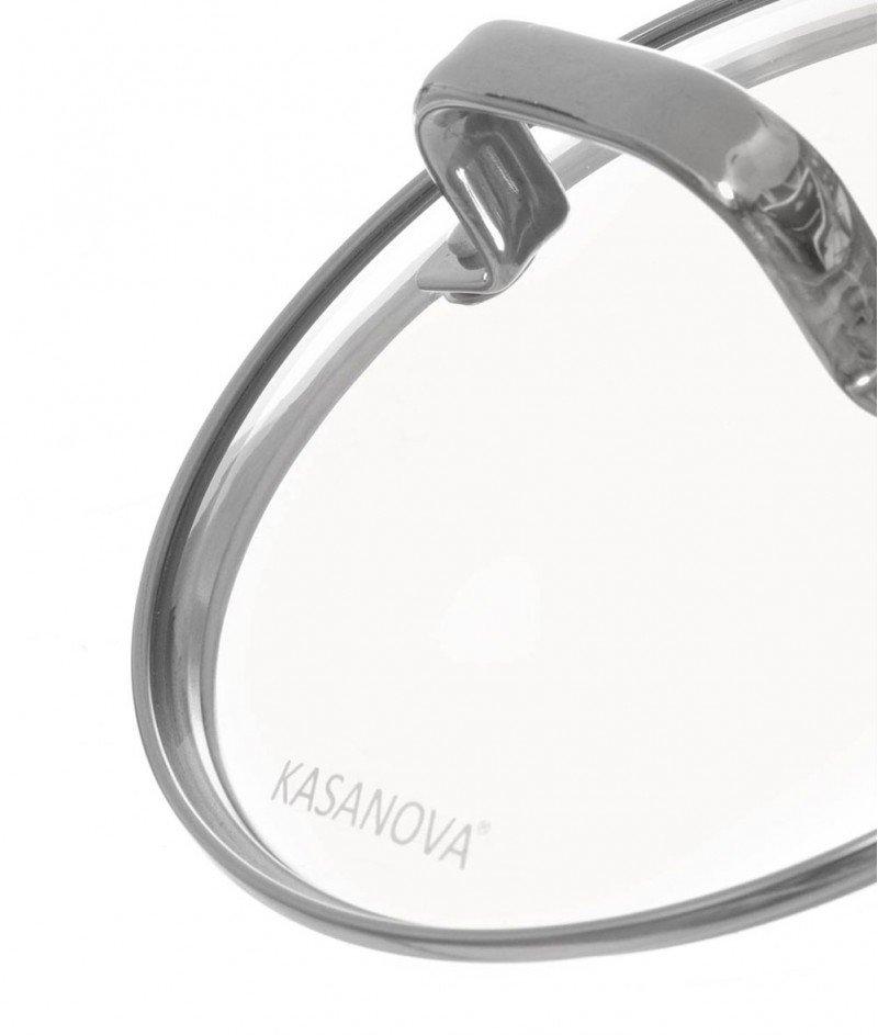Касерола от Алуминий, Неръждаема Стомана и Стъклен капак 18 cm - Kasanova
