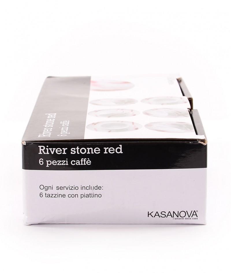 Сервиз За Кафе ,,Речен камък'' - 6 бр. - Kasanova