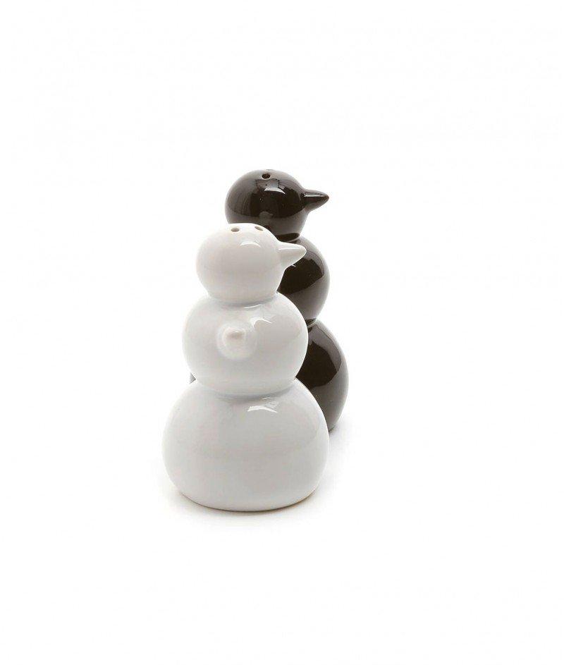 Сет за Сол и Пипер ''Бял и Черен Снежен Човек'' - Kasanova