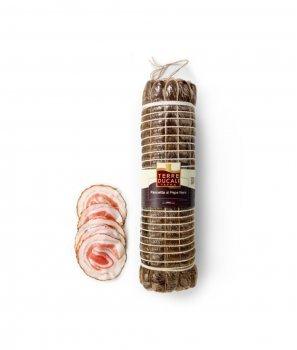 Панчета Италиански Бекон с Черен Пипер Gluten Free 100 g - Terre Ducali Parma