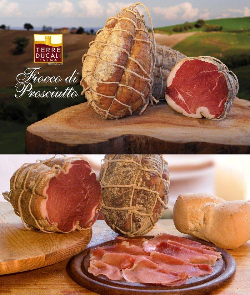 Прошуто Крудо Fiocco (Лък) Gluten Free 100 g - Terre Ducali Parma