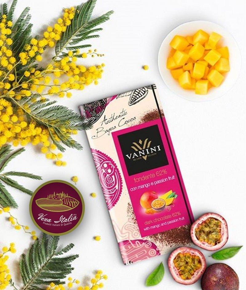 Натурален Шоколад Vanini 62% Какао Багуа с Манго и Маракуя 100 g – Icam