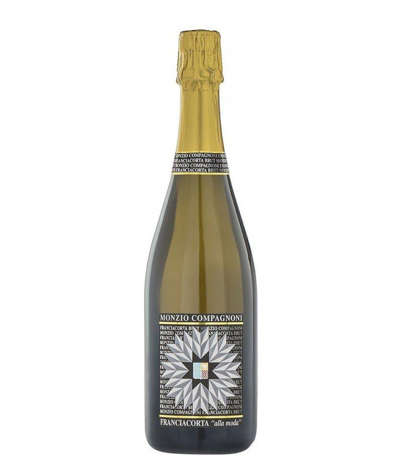 Franciacorta Brut Cuvèe alla Moda 2017 DOCG Metodo Classico 750 ml - M.Compagnoni - Франчакорта Брут Куве ала Мода - Бяло Шампанизирано по Класически Метод Вино