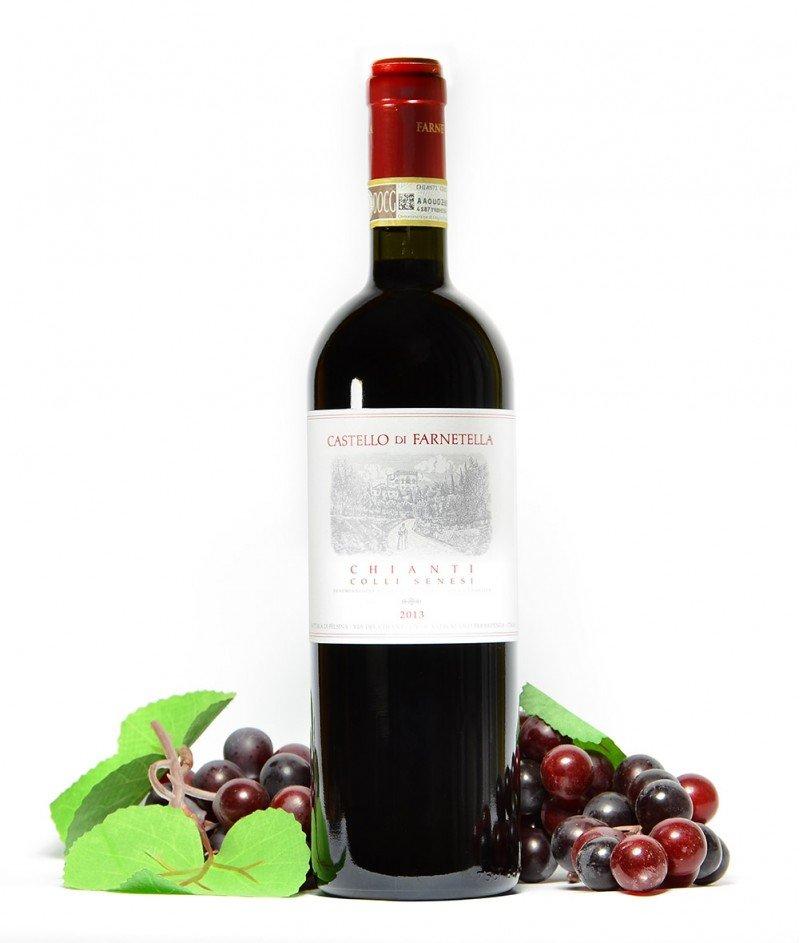 Chianti Colli Senesi 2015 DOCG 750 ml - Castello di Farnetella - Кианти Коли Синези Червено Негазирано, Сухо Вино