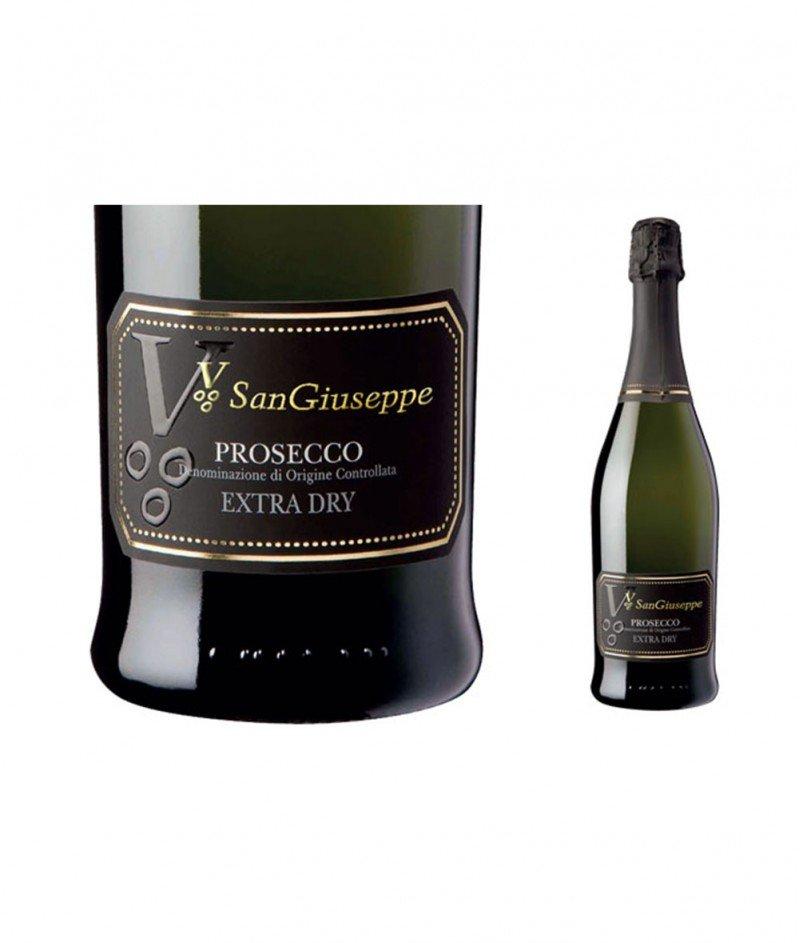 Prosecco Extra Dry 2018 DOC 750 ml - Vignadoro San Giuseppe - Просеко, Бяло Газирано Вино
